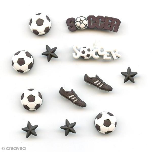 Bouton décoratif - Sport - Partie de foot x 12 - Photo n°1