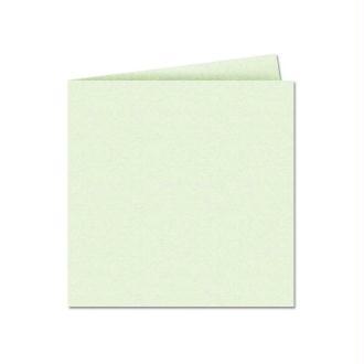 Papier Pollen carte double 135 x 135 Vert irisé x 25