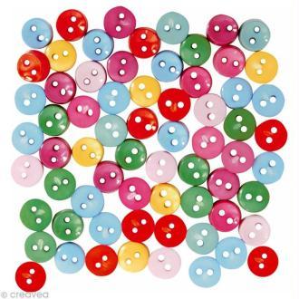 Bouton décoratif - Mini boutons vifs x 10 gr