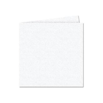 Papier Pollen carte double 135 x 135 Blanc irisé x 25