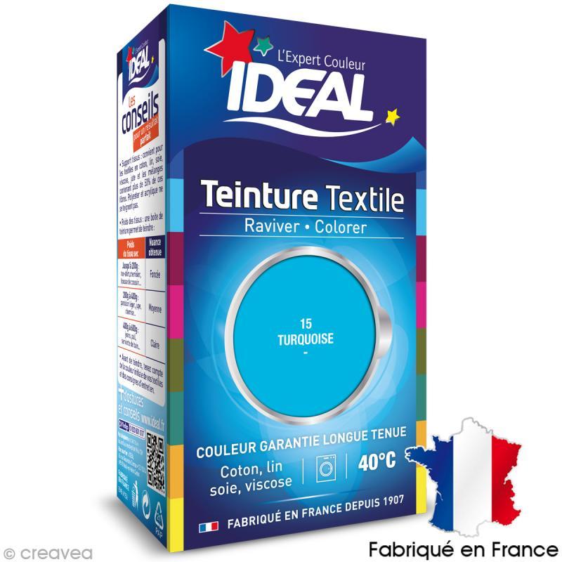 teinture tissu id al liquide turquoise 15 mini teinture coton creavea. Black Bedroom Furniture Sets. Home Design Ideas