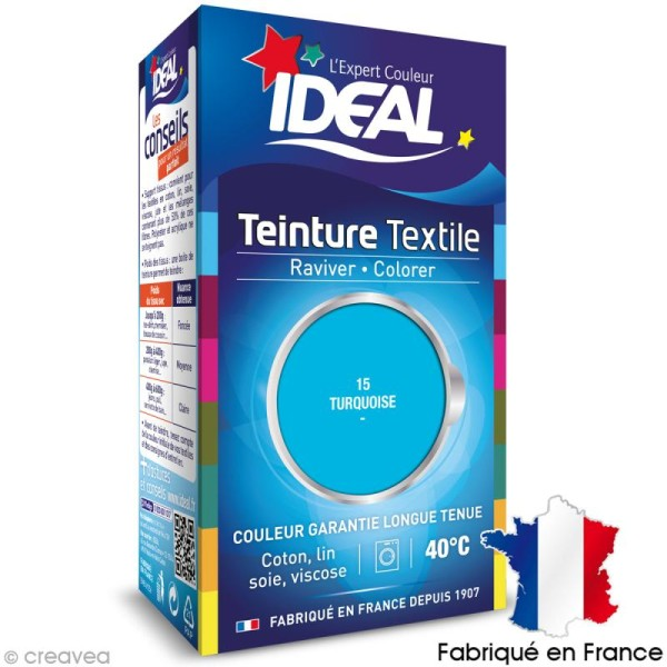 Teinture Tissu Idéal liquide turquoise 15 mini - Photo n°1