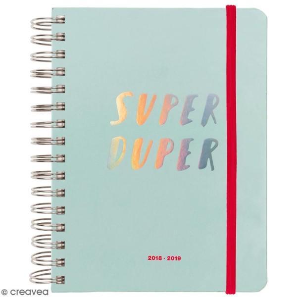 Agenda à spirales 2018 / 2019 - Superduper - 17 mois - Photo n°1