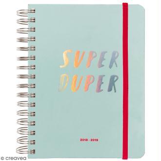 Agenda à spirales 2018 / 2019 - Superduper - 17 mois