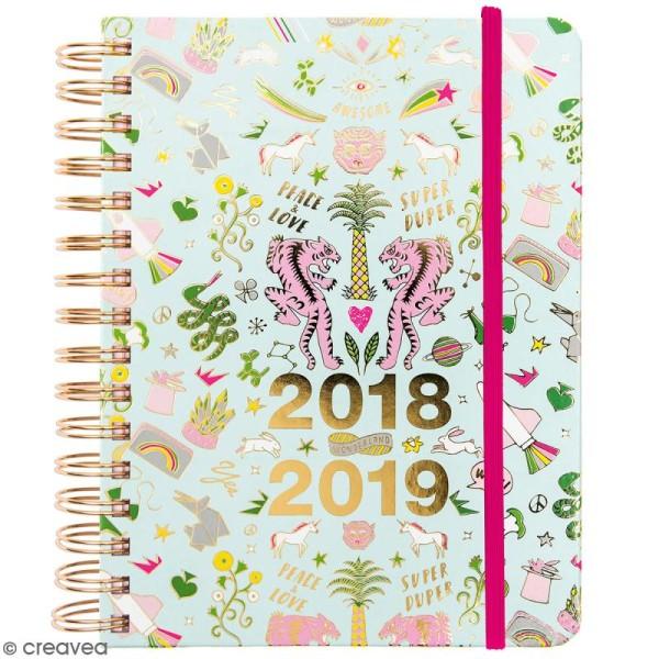 Agenda à spirales 2018 / 2019 - Wonderland - 17 mois - Photo n°1
