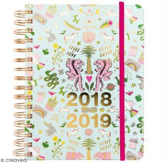 Agenda à spirales 2018 / 2019 - Wonderland - 17 mois