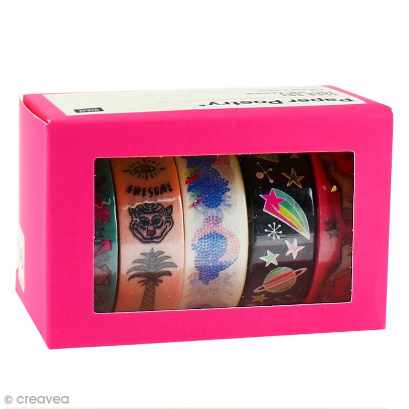 Set de masking tape - Wonderland - 1,5 cm x 10 m - 5 pcs - Photo n°1