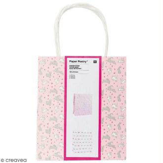 Lot de sacs en papier - Wonderland lièvres - 18 x 21 cm - 2 pcs