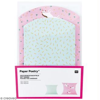 Lot de pochettes cadeaux - Wonderland licorne - 2 tailles - 6 pcs