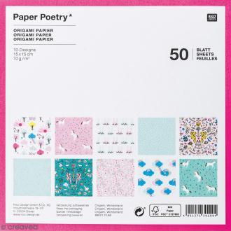 Papier origami Wonderland - 15 x 15 cm - 50 feuilles