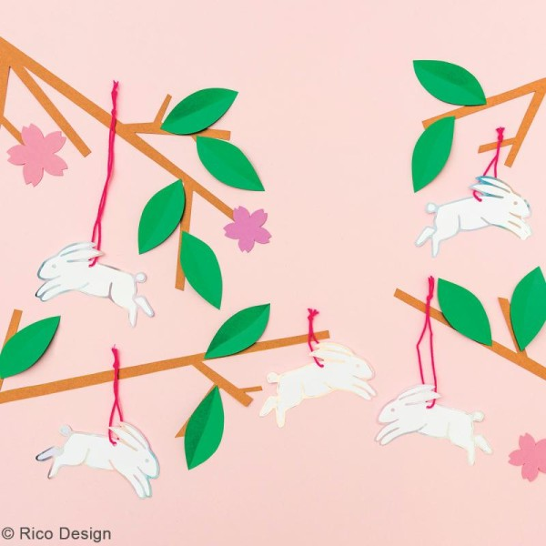 Etiquettes cadeaux - Wonderland Lièvres - 8,5 x 5 cm - 8 pcs - Photo n°2