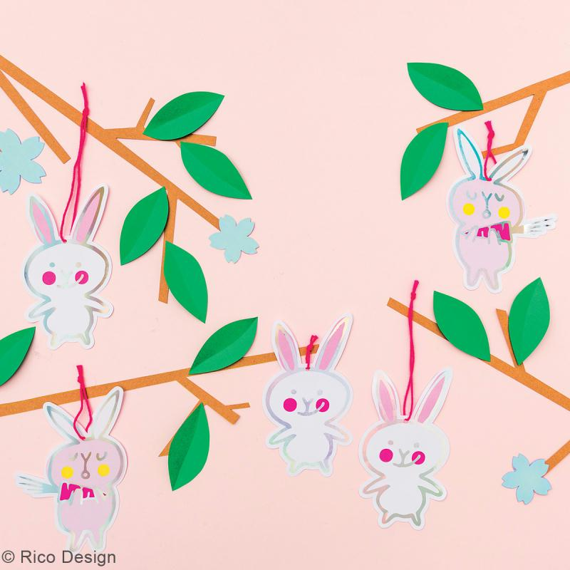 Etiquettes cadeaux - Wonderland Lapins - 6,5 x 11 cm - 8 pcs - Photo n°2