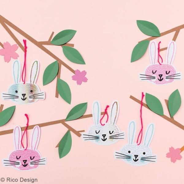 Etiquettes cadeaux - Wonderland Têtes de lièvres - 9,5 x 9,5 cm - 8 pcs - Photo n°2