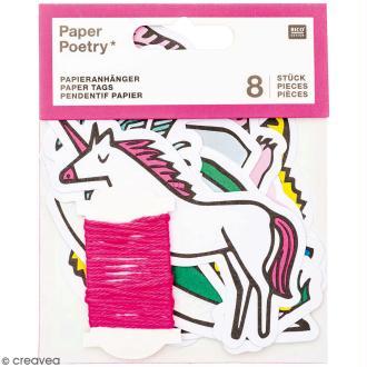Etiquettes cadeaux - Wonderland  - 7 x 11,5 cm - 8 pcs