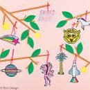 Etiquettes cadeaux - Wonderland  - 7 x 11,5 cm - 8 pcs - Photo n°2