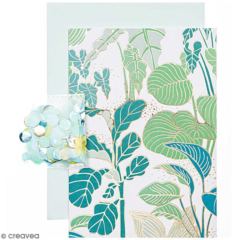 Kit carte anniversaire à personnaliser - Rico Design Hygge - Plantes - 12,5 x 17,5 cm - Photo n°1