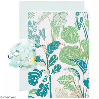 Kit carte anniversaire à personnaliser - Rico Design Hygge - Plantes - 12,5 x 17,5 cm