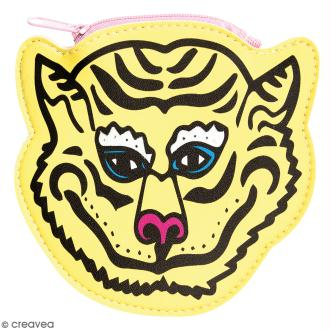 Porte monnaie fantaisie - Rico Design Wonderland - Tigre Jaune - 12 x 12 cm