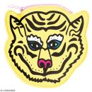 Porte monnaie fantaisie - Rico Design Wonderland - Tigre Jaune - 12 x 12 cm - Photo n°1
