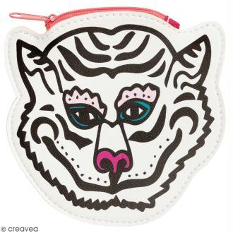 Porte monnaie fantaisie - Rico Design Wonderland - Tigre Blanc - 12 x 12 cm
