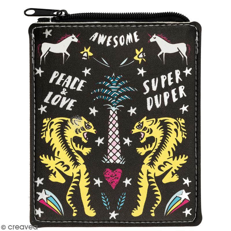29efef763d Porte monnaie fantaisie - Rico Design Wonderland - Wonderland Noir - 10 x  12,5 cm - Pochettes et trousses - Creavea