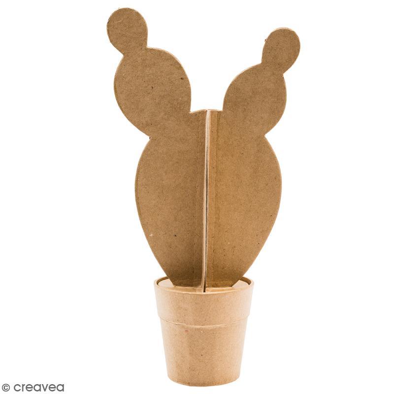 Cactus boule en papier mâché à décorer - 32 cm - Photo n°1