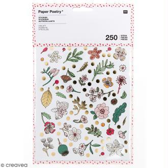 Stickers - Hygge fleurs Brillant et Neon - 250 pcs