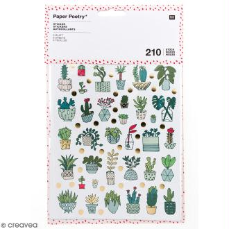 Stickers - Hygge cactus Brillant et Neon - 210 pcs