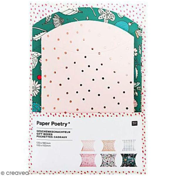 Lot de pochettes cadeaux - Hygge fleurs - 2 tailles - 6 pcs - Photo n°1