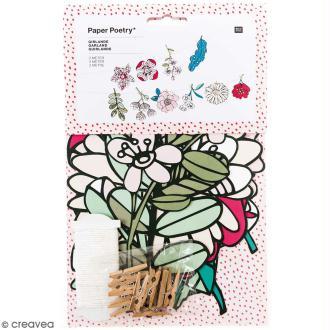 Kit guirlande - Hygge fleurs - 3 m - 21 pcs