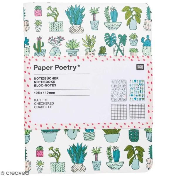 Petits carnets de notes A6 - Hygge cactus - 10,5 x 14 cm - 2 pcs - Photo n°1