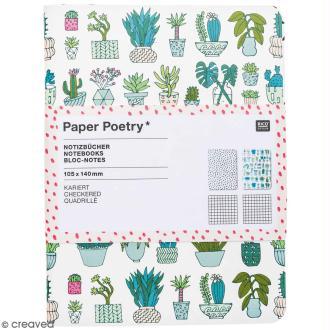 Petits carnets de notes A6 - Hygge cactus - 10,5 x 14 cm - 2 pcs