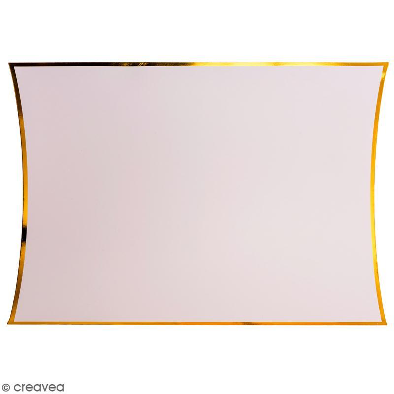 Grande boîte cadeau Rose bords dorés - 28 x 32 cm - Photo n°1