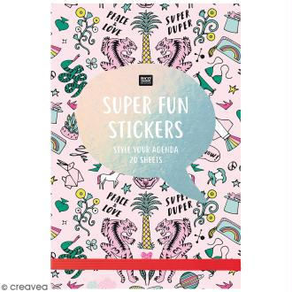Carnet de stickers Wonderland - Rose - 20 pages