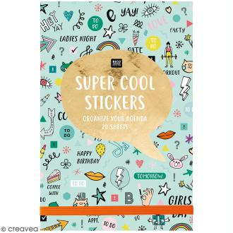 Carnet de stickers Wonderland - Menthe - 20 pages