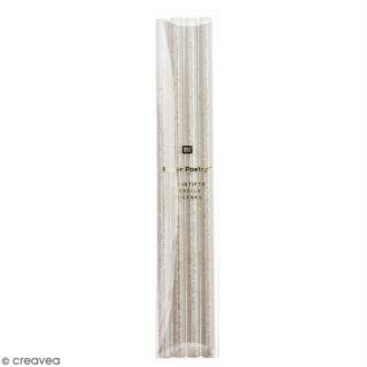 Assortiment de crayons papier Rico Design - Paillettes blanches - 4 pcs