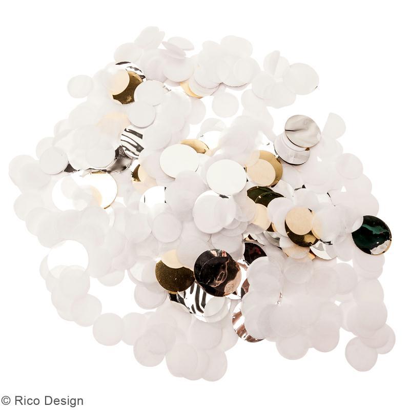 Canon à confettis - Blanc et argenté - Photo n°2
