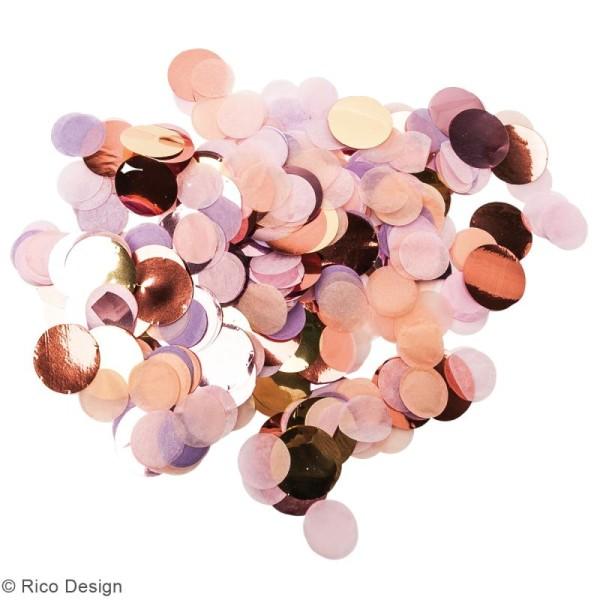 Canon à confettis - Rose et violet pastel - Photo n°2