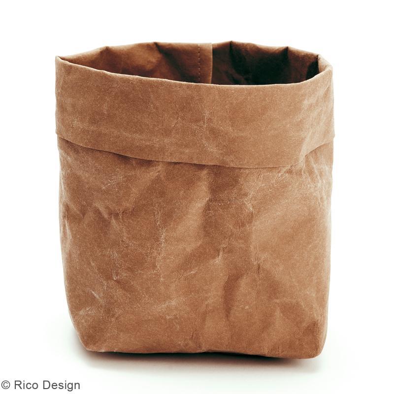 Washable paper Rico design - Rouleau de papier lavable Brun - 50 x 100 cm - Photo n°2