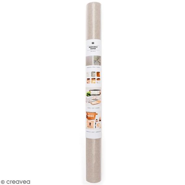 Washable paper Rico design - Rouleau de papier lavable Gris - 50 x 100 cm - Photo n°1