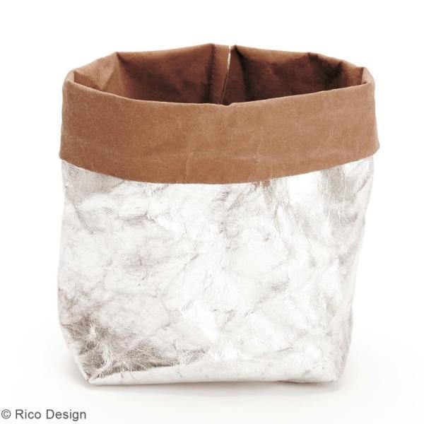 Washable paper Rico design - Rouleau de papier lavable Argenté - 50 x 100 cm - Photo n°2