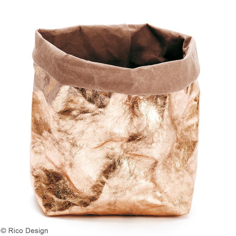 Washable paper Rico design - Rouleau de papier lavable Rose gold - 50 x 100 cm - Photo n°2