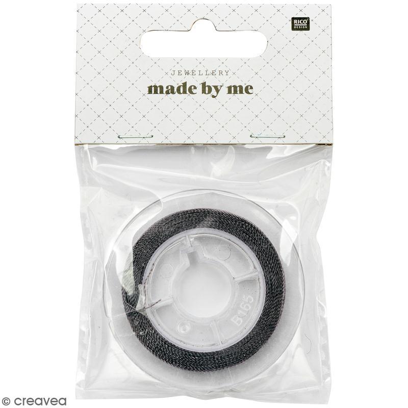 Fil nylon gris - 0,20 mm - 50 m - Photo n°1