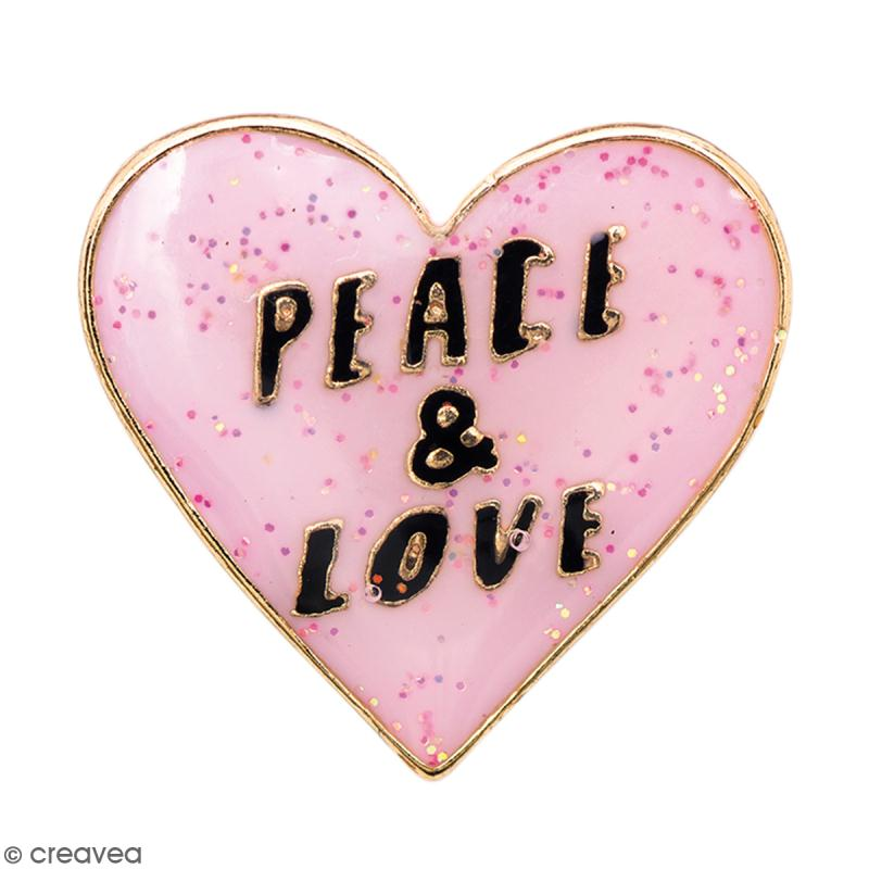 Pin's - Made by me - Peace and love - Photo n°1