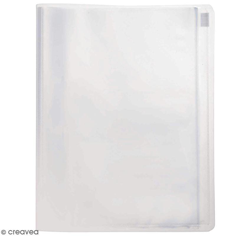 Porte vues personnalisable A4 - Transparent - 30 pochettes - Photo n°1