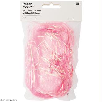 Cheveux d'ange décoratifs Rico Design - Rose bonbon - 20 g