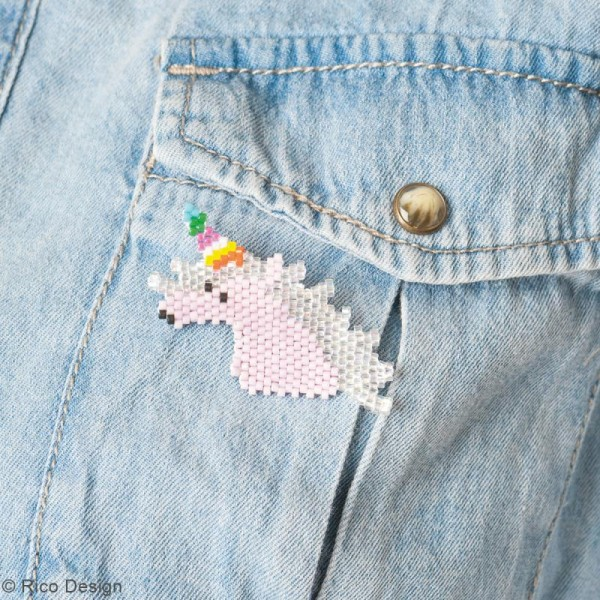 Kit brick stitch - Broche Licorne - Photo n°2