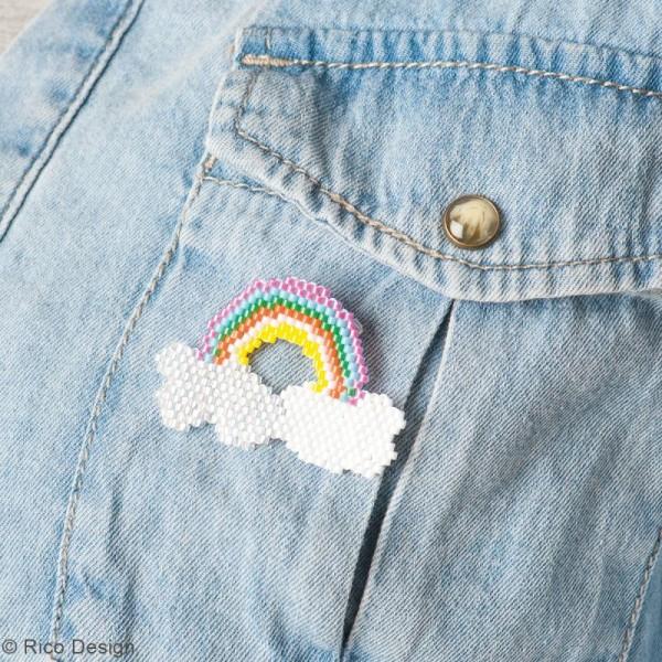 Kit brick stitch - Broche Arc-en-ciel - Photo n°2