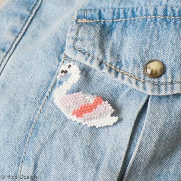 Kit brick stitch - Broche Cygne - Photo n°2
