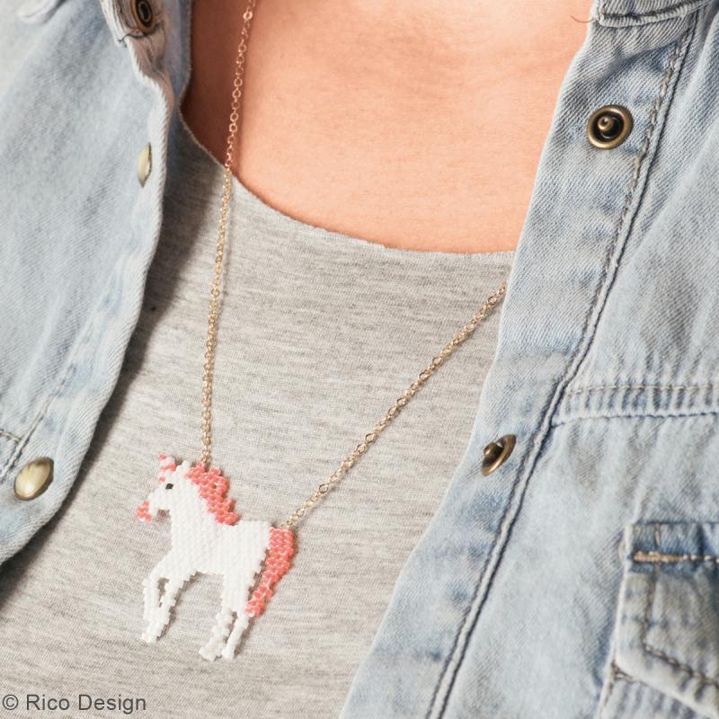 Kit brick stitch - Pendentif Licorne - Photo n°2